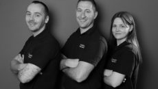 Team Intellico, l-r: Scott Kilpatrick, service manager; MD Richard Hose; and office manager Lindsey Horn.