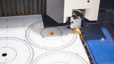 Laser cutting equipment is part of Die-Pat's manufacturing investment.