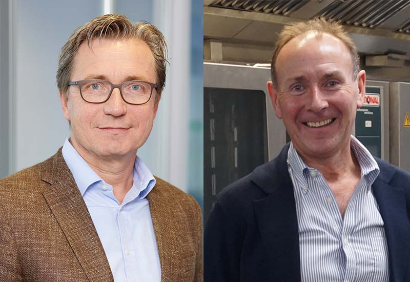 GEV MD Alexander Wiegand (left) has welcomed Jonathan Booth's CCS into the GEV Group.