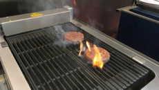 The Locher electric chargrill 461 in action.