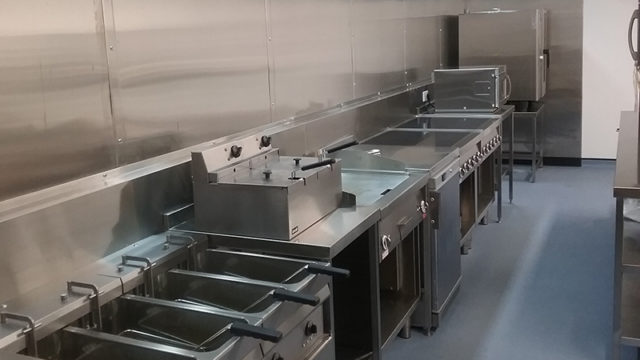The Robin Hill country park's new kitchen, featuring Cuisinequip-supplied Locher equipment installed by Cater Wight.