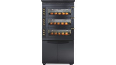 A black finish Helios oven from Debag and Euro Catering.