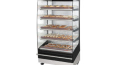 Fri-Jado's heated multi deck merchandisers are said to be popular for food to go applications.