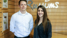 Russums' recent recruits Lewis Russell and Beth Glenn.