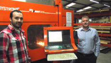 Shine's Steffan Owen (left) and Neil Thorne have welcomed the update to the firm's sheet metal cutting software.