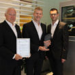 Liebherr representatives collected the ideasEurope Best Ideas and Innovation Management Award.