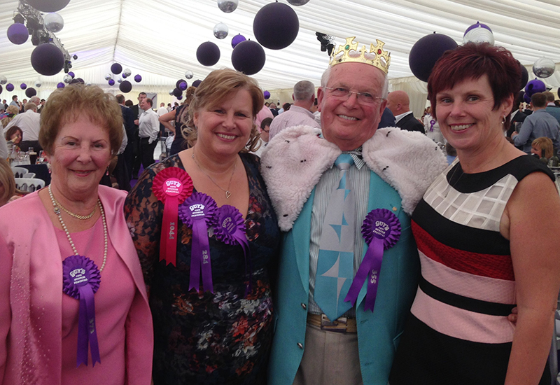 The Chattertons: Dorothy, Dawn, Hugh and Diane at Guys Oyster Festival on their 26th anniversary, when Hugh was crowned 'Guys King'.