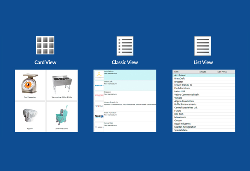 Comparison of all views now available in the CQ online catalogue.