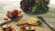 American Metalcraft is now offering tier stands, mini bamboo serving peels, cheese knives and paper for buffet presentation.