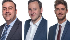 L-r: Mike Woodman, Keith Shelly and Gareth Brown have all moved into different sales roles as part of Lincat's departmental shake-up.