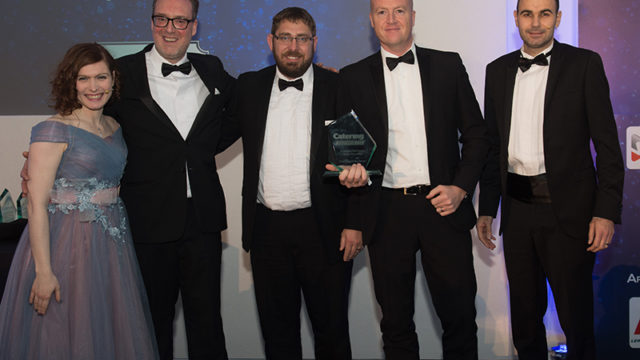 L-r: Clare Nicholls, editor, Catering Insight, Richard Norman, national sales manager Jestic Foodservice Equipment; Lee Swiffen, director, iFour Hospitality Design; Paul Martin, director, iFour Hospitality Design; and Andrew Seymour, Promedia Publishing editorial director.