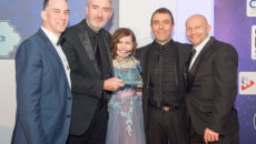 L-r: Blue Seal northern area sales manager, David Chesshire; Roger Crosby, Business Development Director, Crosbys; Clare Nicholls, editor, Catering Insight; Ben Crosby; projects and design director, Crosbys; and Glenn Danks, MD, Blue Seal.